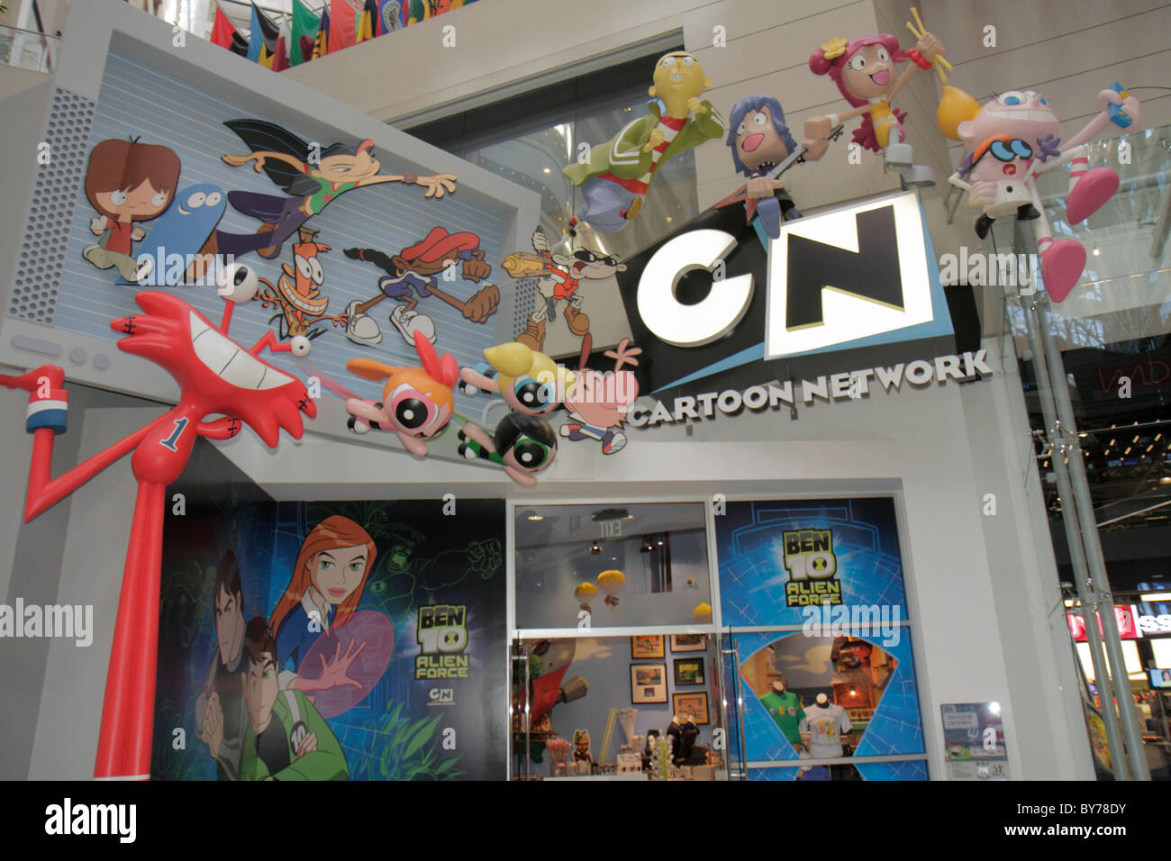 Atlanta Georgia CNN Center Atrium speichern Cartoons Network Store ...