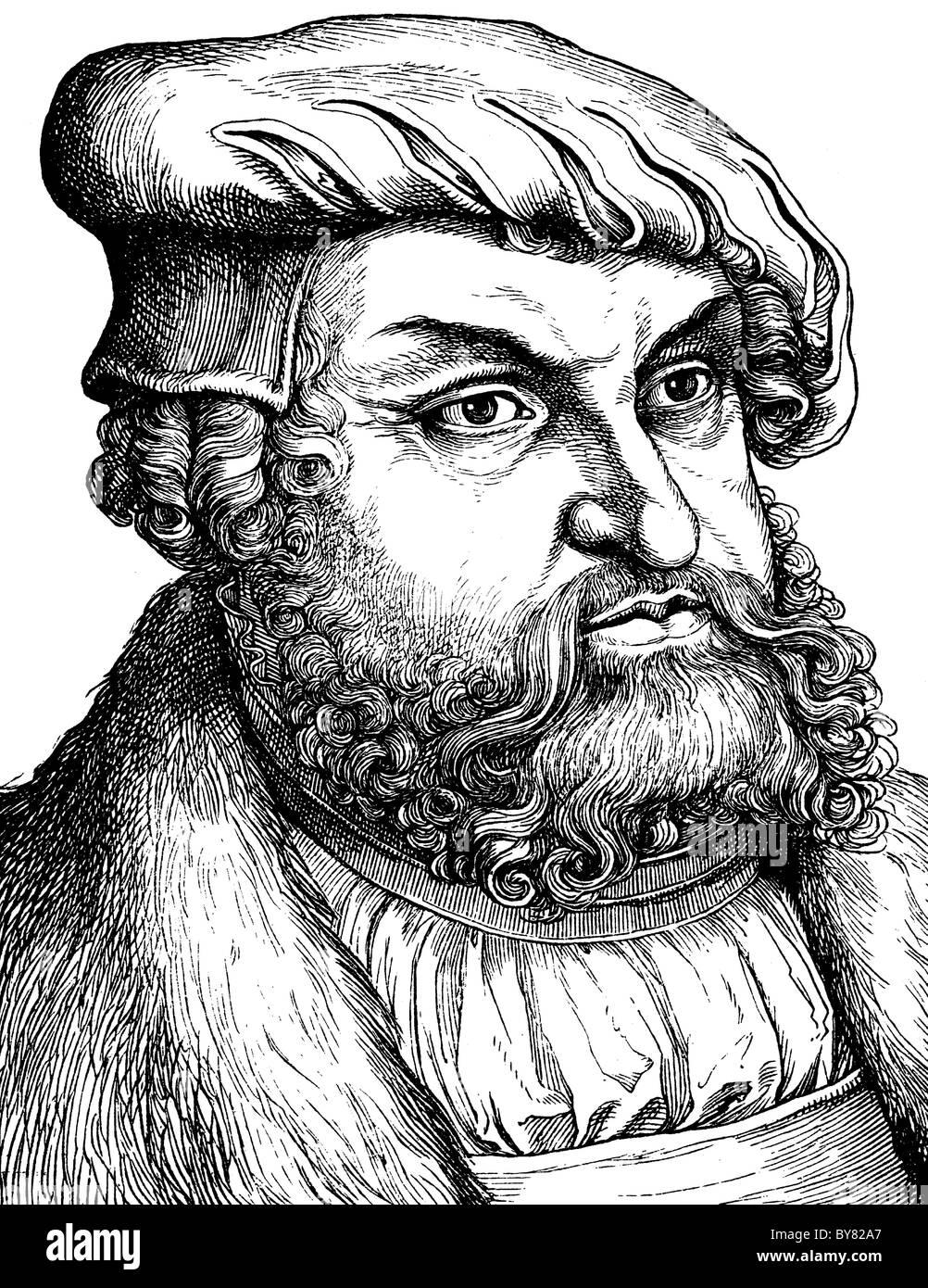 Digital remastered Bild von Johann, Herzog Und Kurfürst Zu Sachsen, der Beständige, 1468-1532 Stockbild