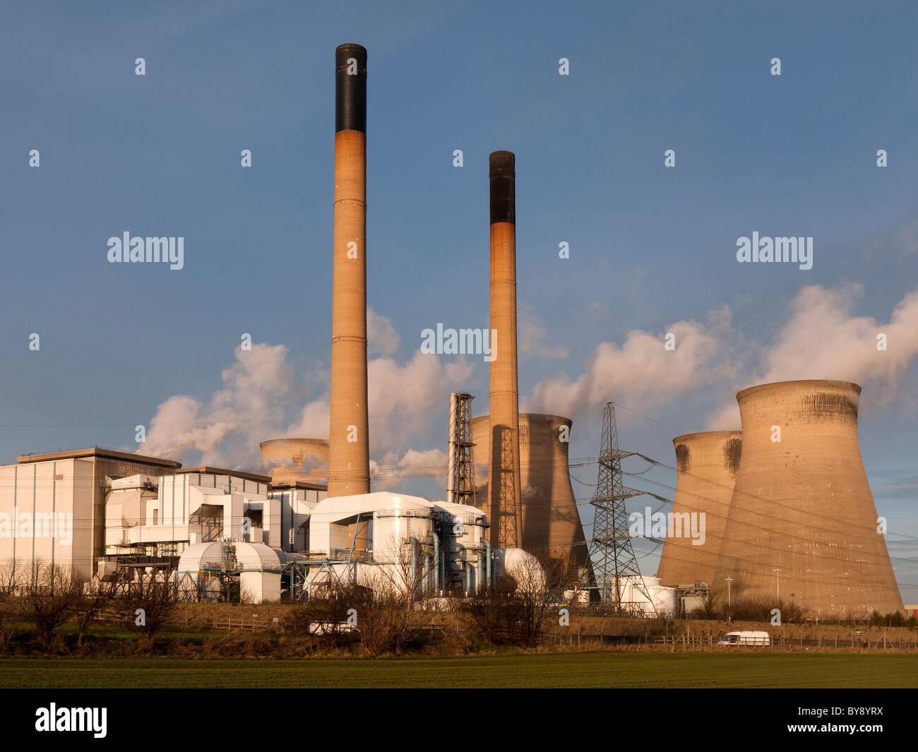 Ferrybridge Kohlekraftwerk Kraftwerk, Yorkshire, England, UK Stockbild