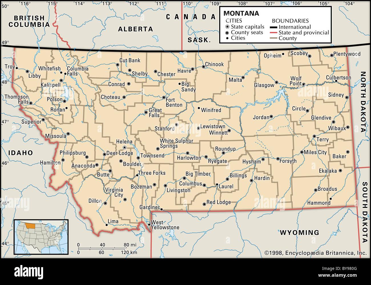 Montana Elevation Map
