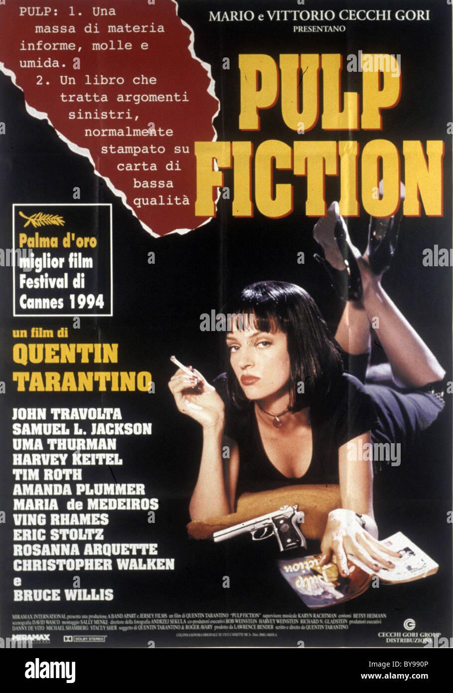 Pulp Fiction Jahr: 1994 - USA Regie: Quentin Tarantino Uma Thurman Film Poster (It) Goldene Palme Cannes 1994 Stockbild