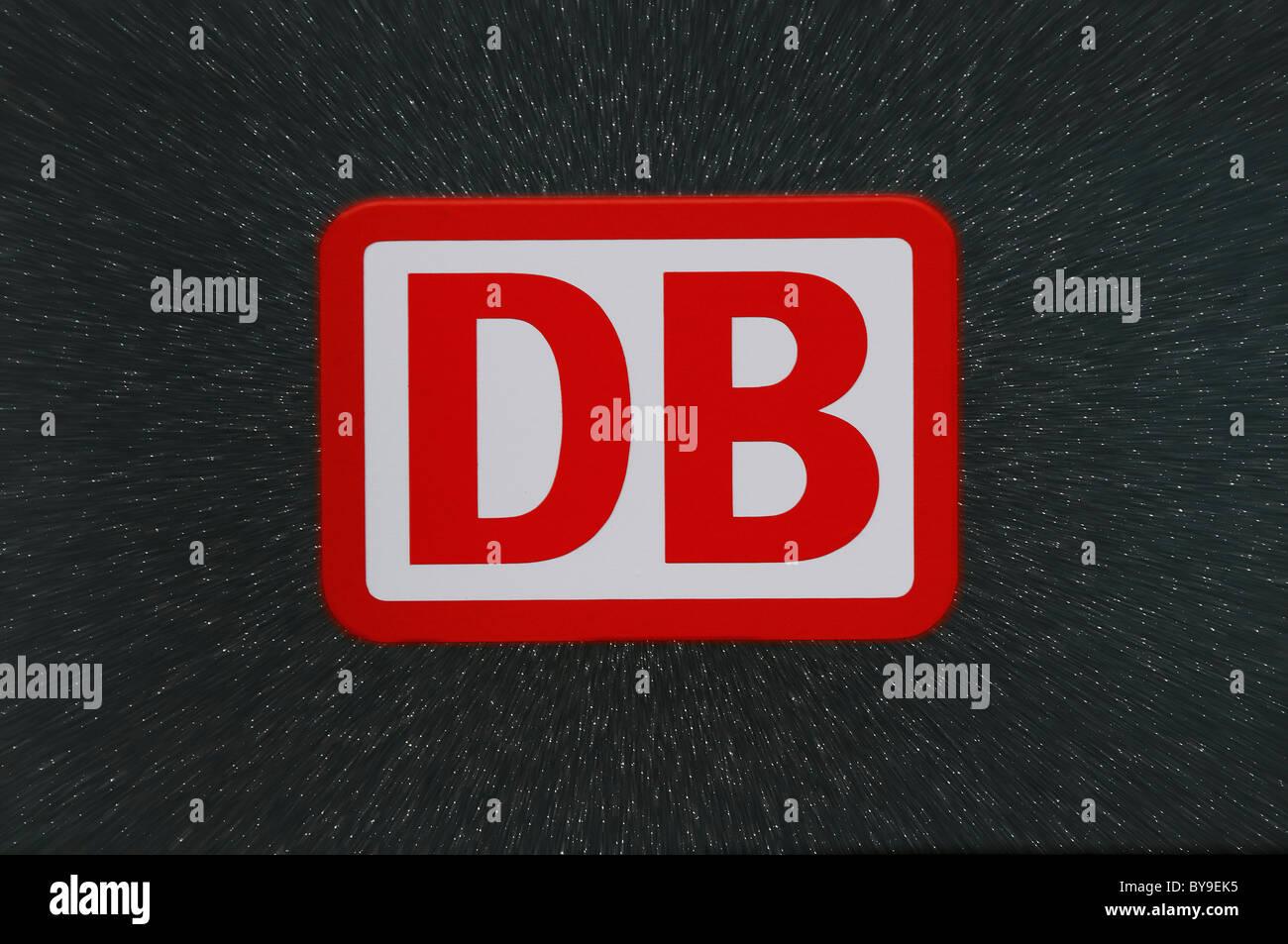 DB-Logo, Deutsche Bahn, Deutsche Bahn Stockbild