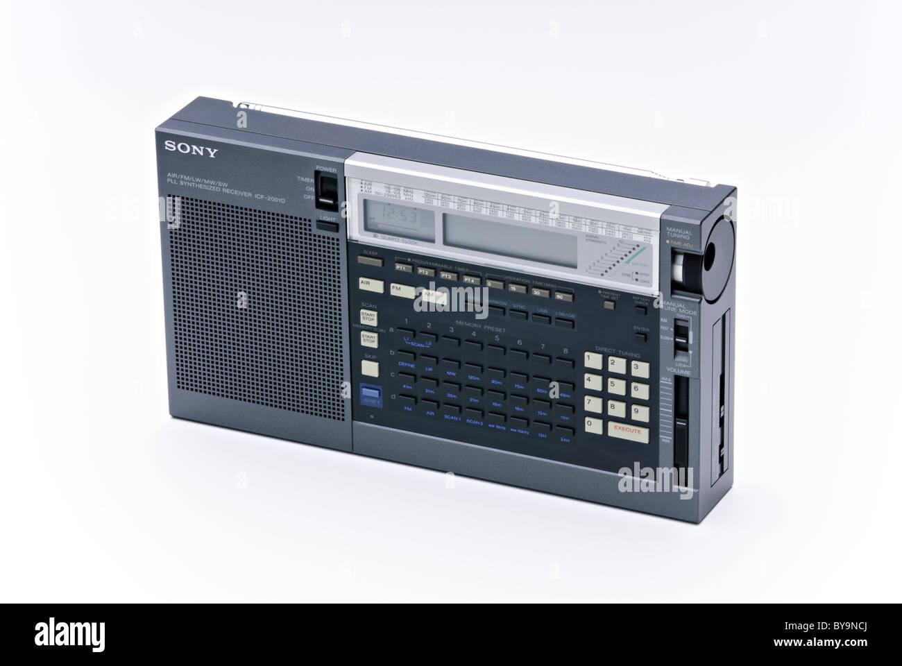 1985-Radio Sony ICF - 2001 D Stockbild