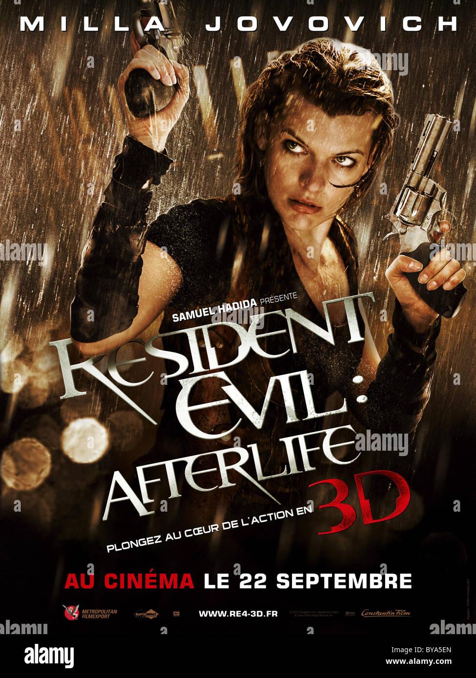 Resident Evil: Afterlife Jahr: 2010 USA / UK Regie: Paul w.s. Anderson Milla Jovovich Filmplakat (Fr) Stockbild