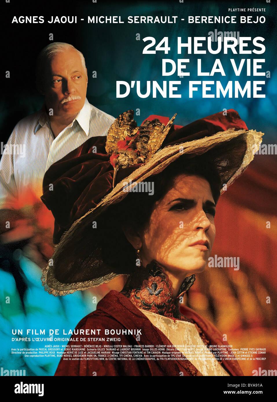 24 Heures Dans la vie d ' une Femme Jahr: 2002 Frankreich Regie: Laurent Bouhnik Agnes Jaoui Movie Poster (Fr) Stockfoto