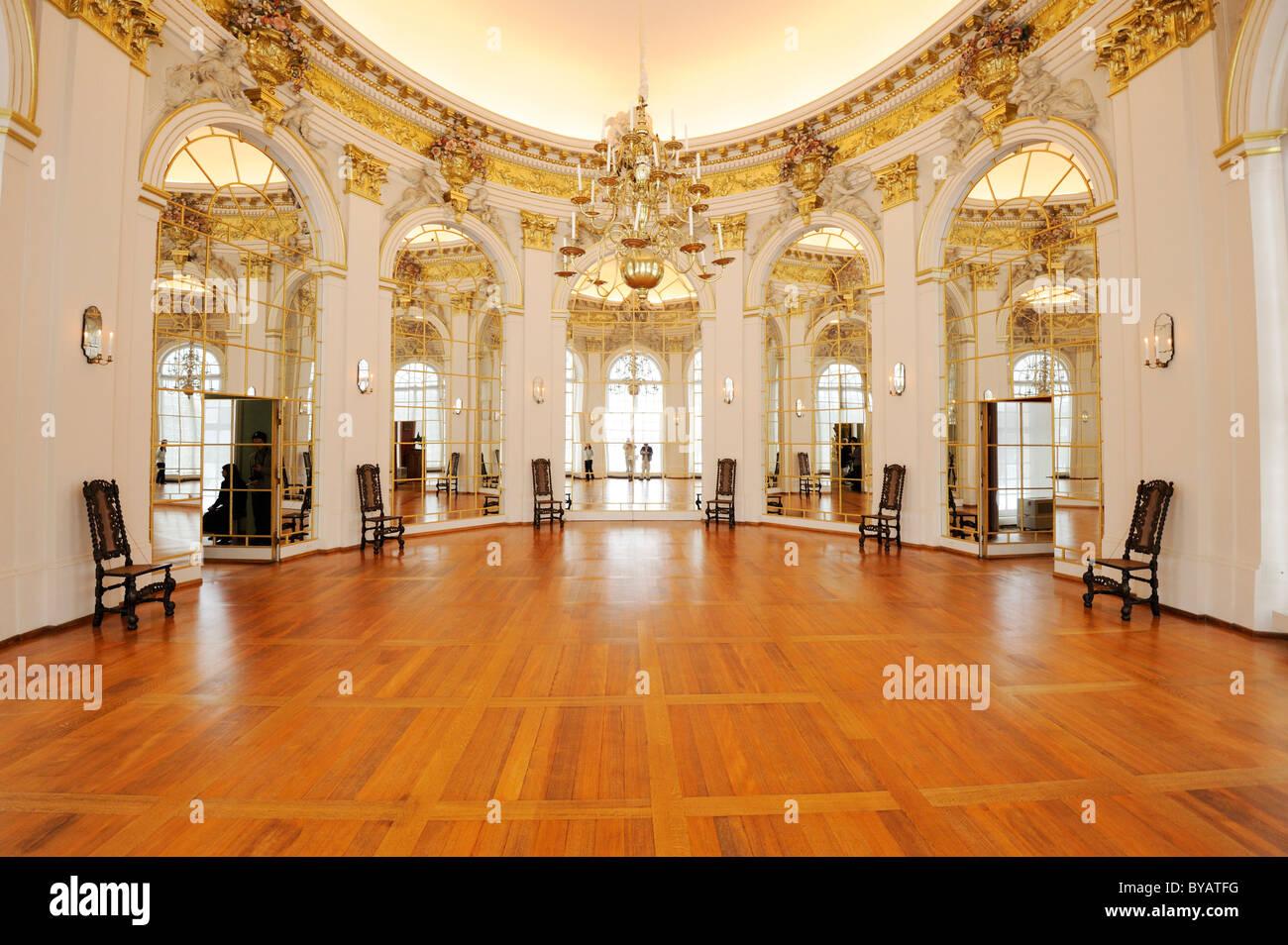 Ovaler Saal im Schloss Schloss Charlottenburg, Berlin, Deutschland, Europa Stockbild