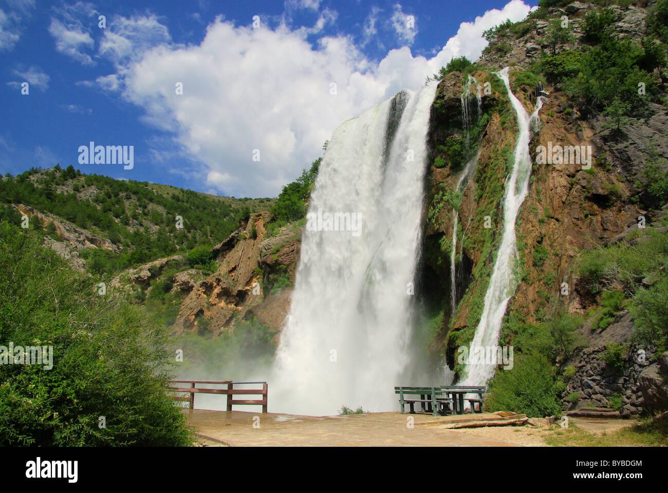 Krcic Wasserfälle - Wasserfall Krcic 05 Stockbild