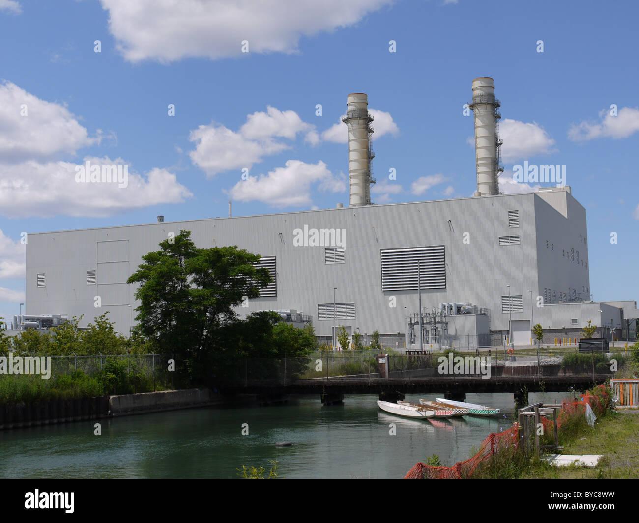 Elektrische Generation Gasturbinenkraftwerk Stockbild