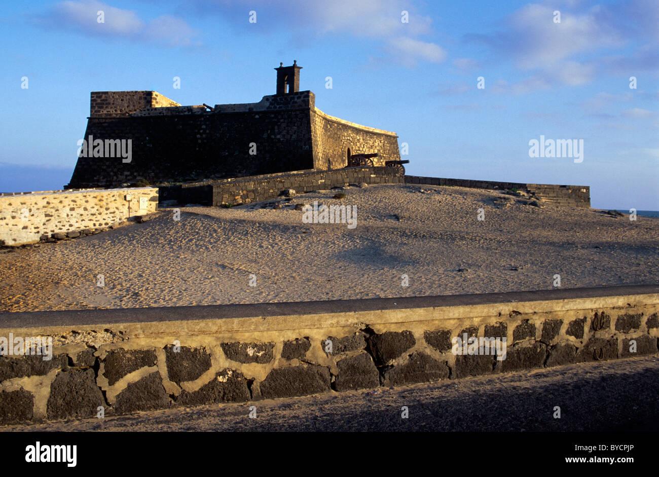 Lanzarote, Castillo de San Gabriel in Arrecife, Lanzarote, Kanarische Inseln, Spanien Stockbild