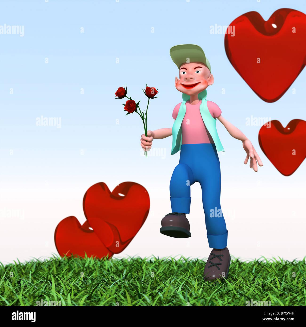 Cartoon-Figur Stockbild