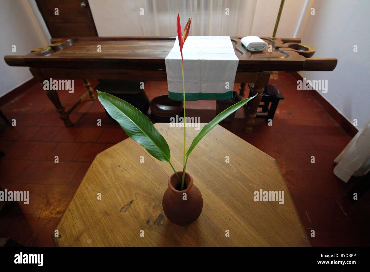 Massageraum luxus  Ayurveda, Massagebank, alte Massageraum, Luxus-Hotel, Hotel Fort ...