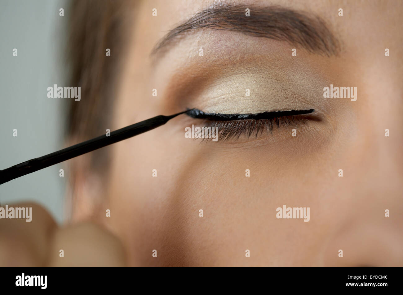 Augenmakeup zone Stockbild
