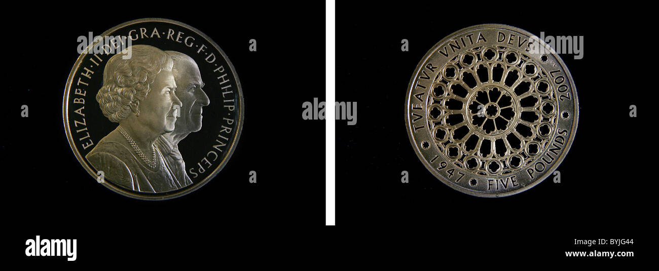 Königliche Münze Für Die Diamantene Hochzeit