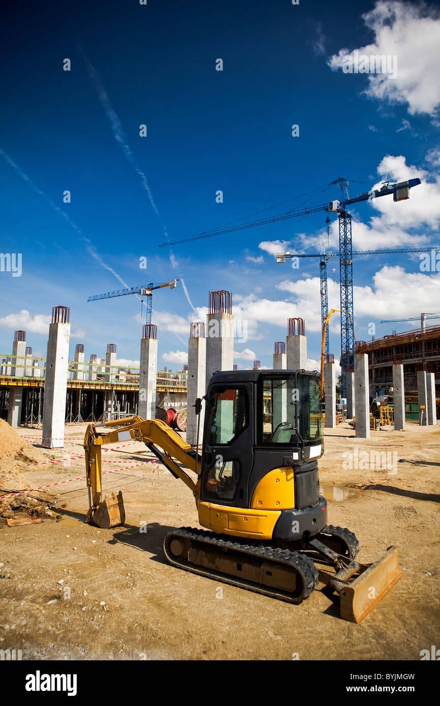 Baustelle des Fußballstadions in Breslau. Vorbereitung auf die Fußball-Europameisterschaft Euro 2012. Stockbild