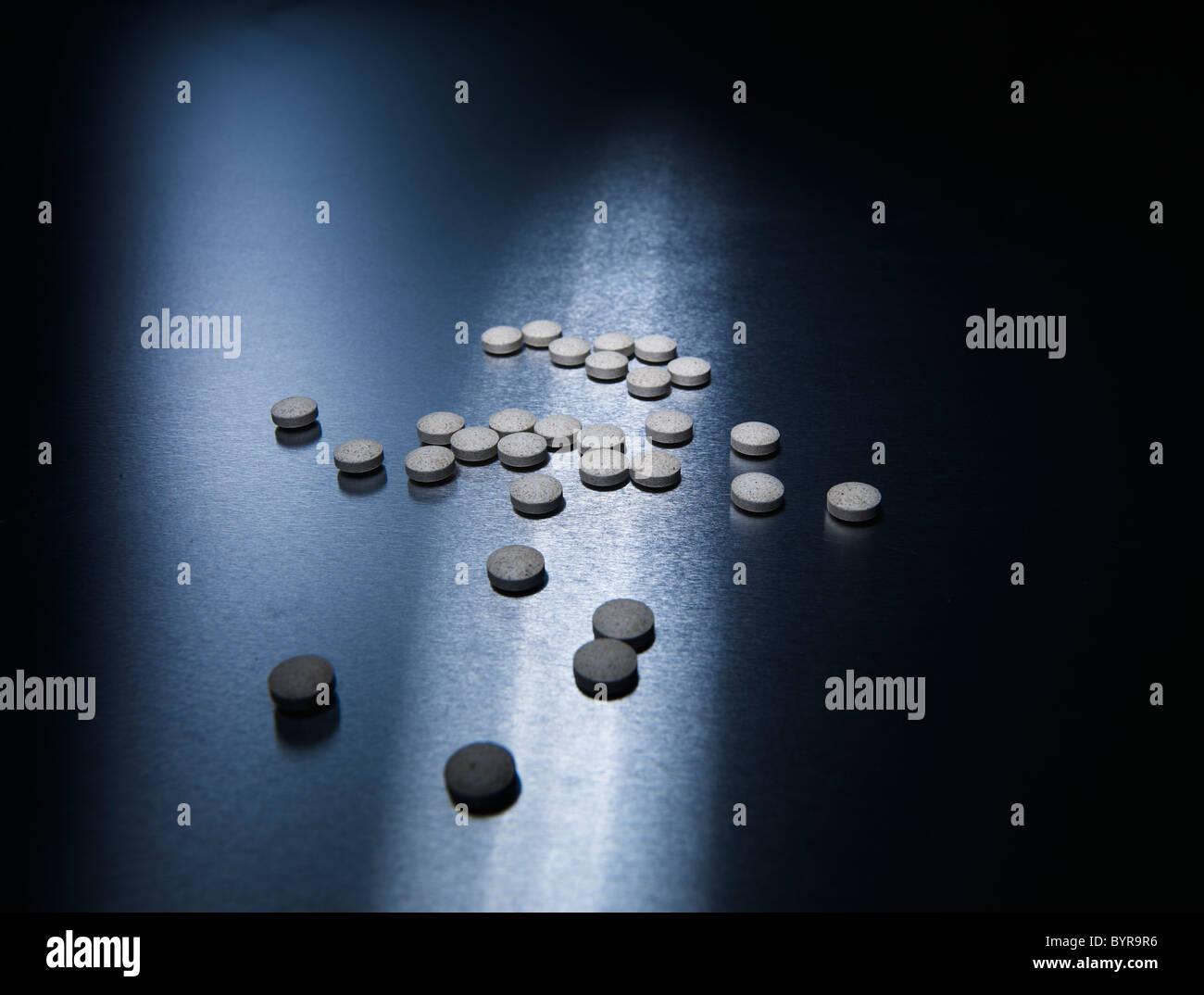 Pillen Krankheit Heilung Krankheit Aluminiums Stockbild