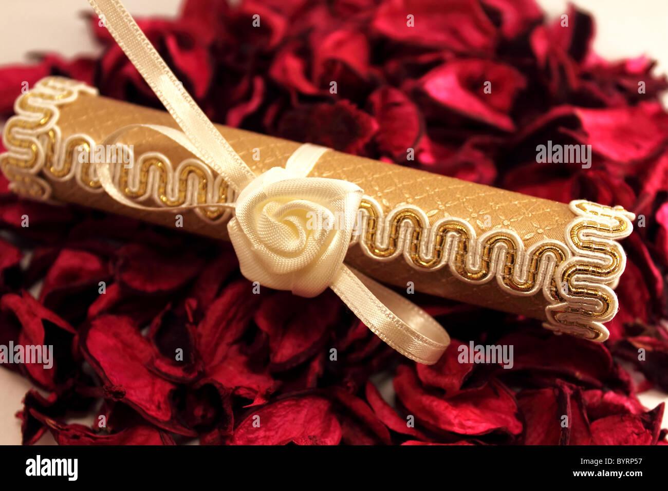 Hochzeitseinladung Stockfoto