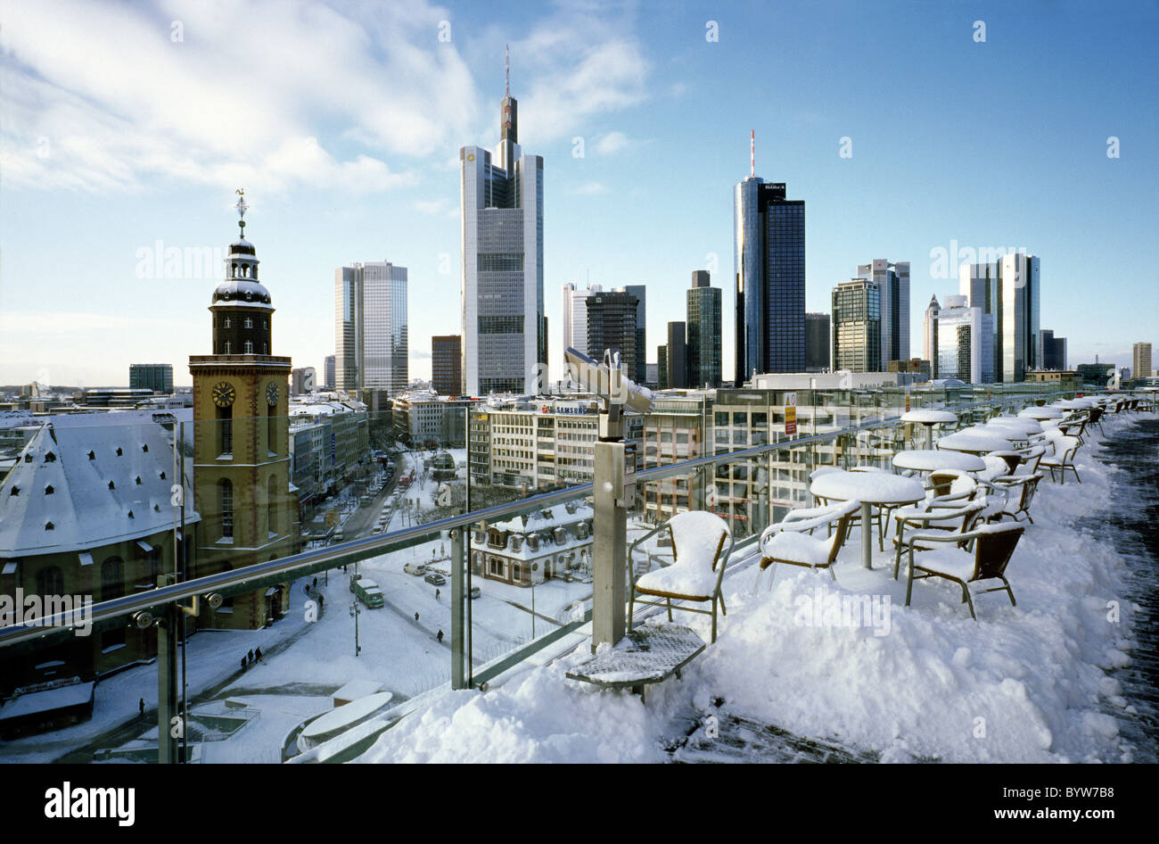 hauptwache und skyline von frankfurt am main stockfoto bild 34360684 alamy. Black Bedroom Furniture Sets. Home Design Ideas