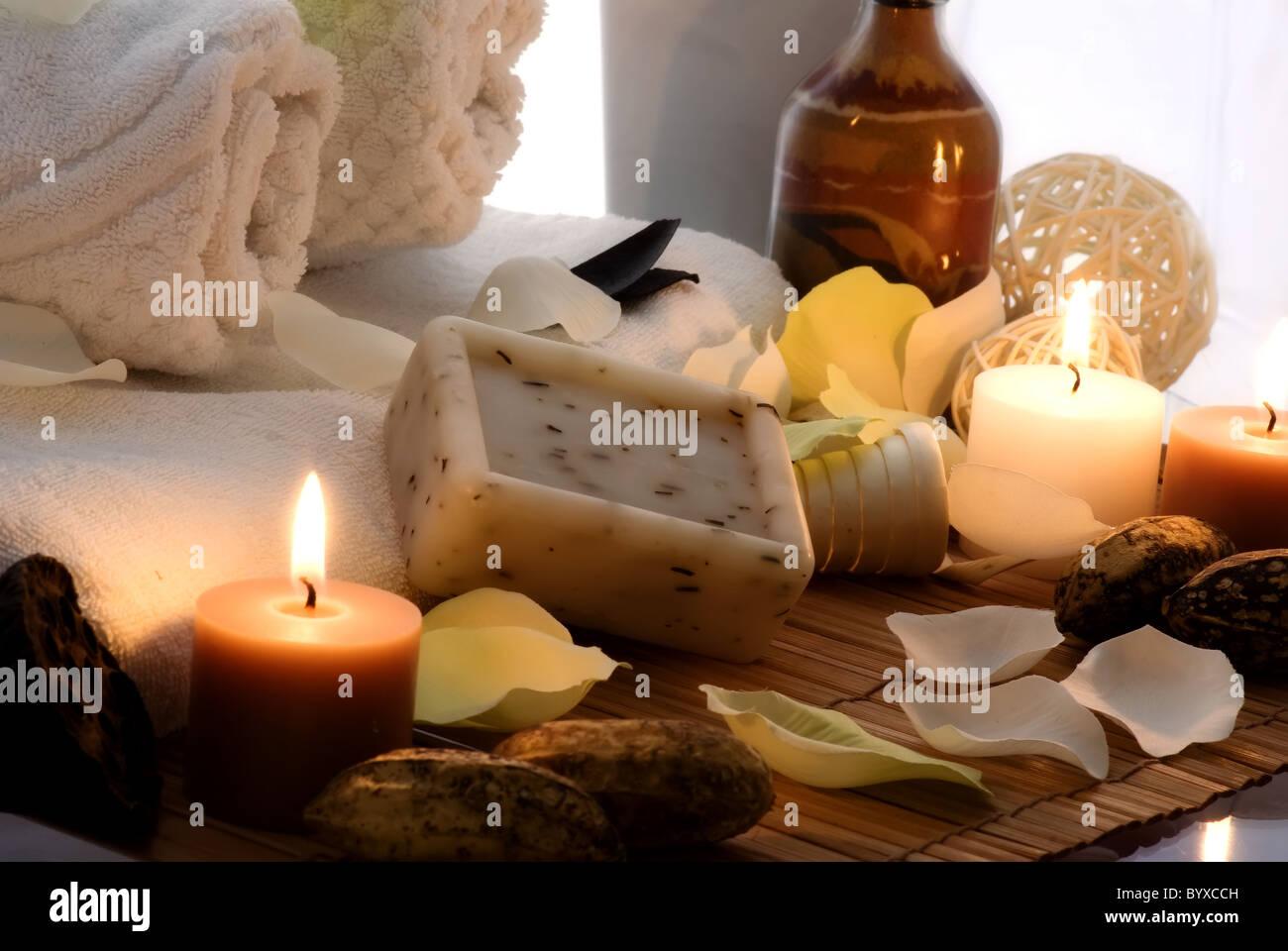 Wellness-Abend Stockbild