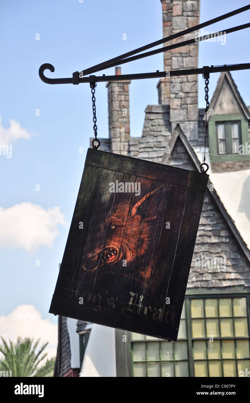 Zauberwelt von Harry Potter Stockfoto