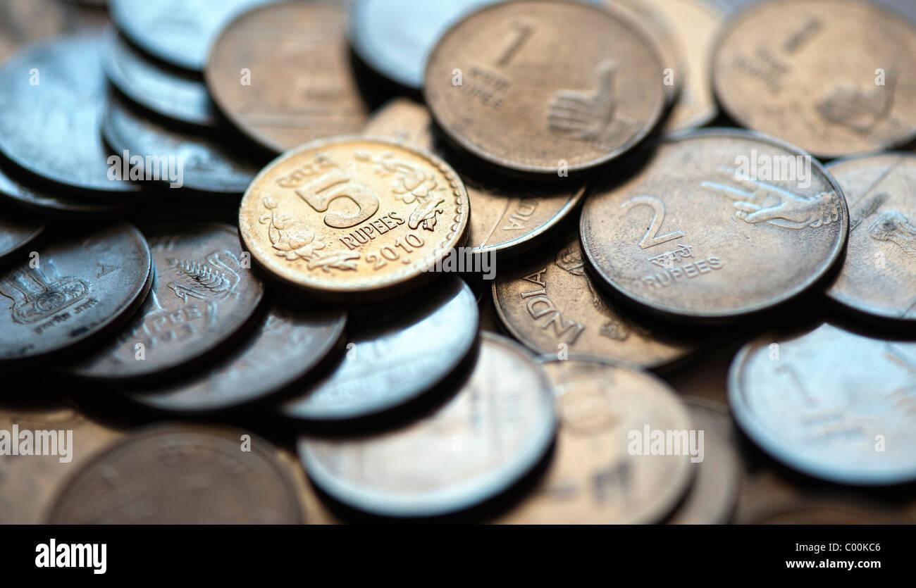 Indische Münzen Währung Stockfotos Indische Münzen Währung Bilder