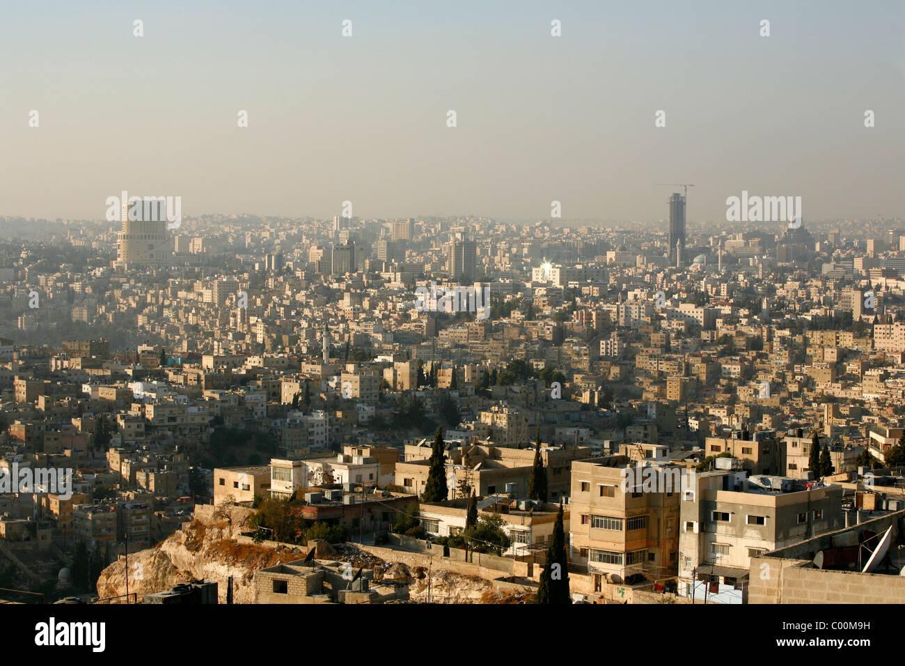 Skyline von Amman, Amman, Jordanien. Stockbild