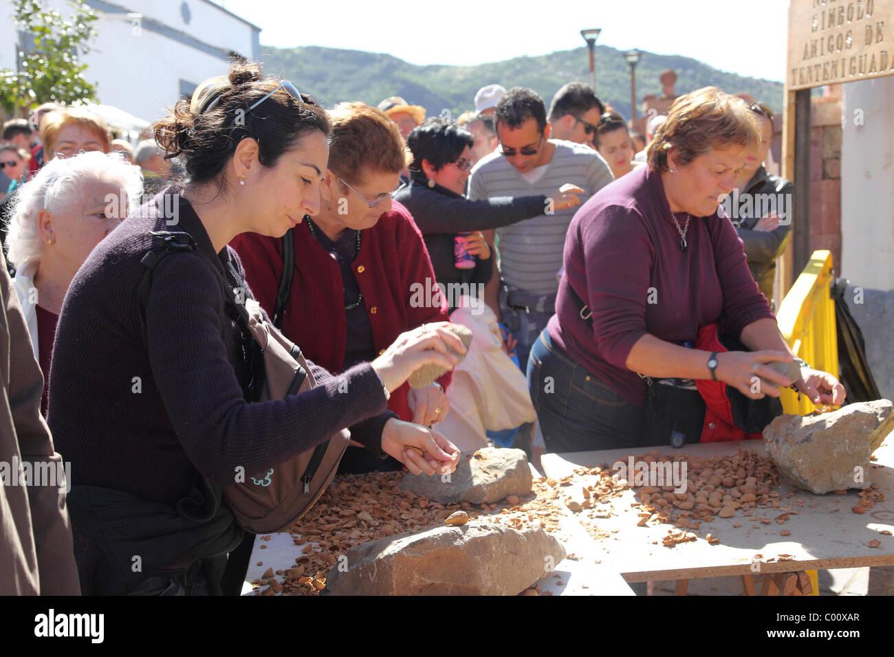 Mandel-Festival in Tejeda, Gran Canaria. Stockbild