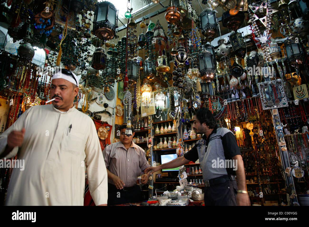Perlengeschäft in Aqaba, Jordanien. Stockbild