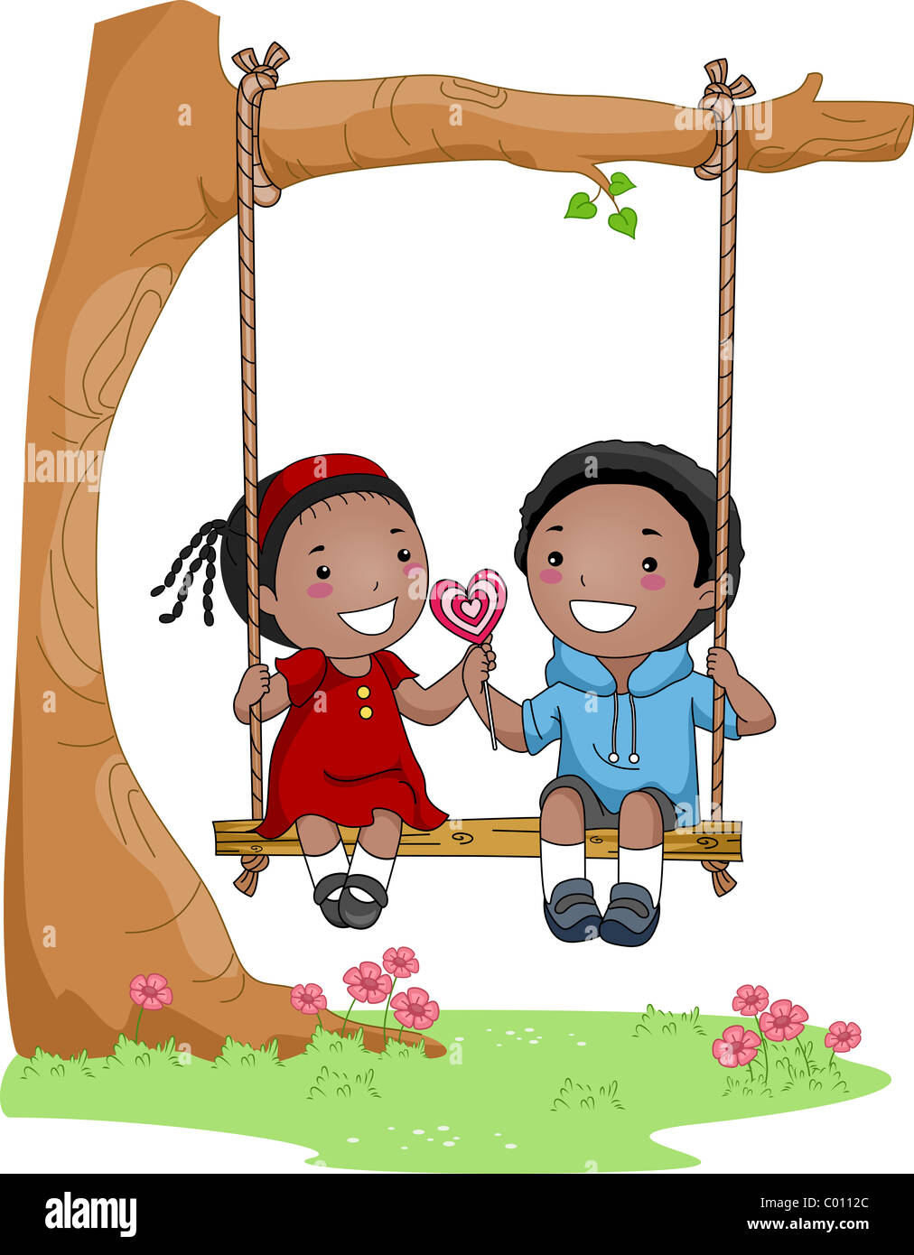 Couple Love Clipart Swing Stockfotos Couple Love Clipart Swing