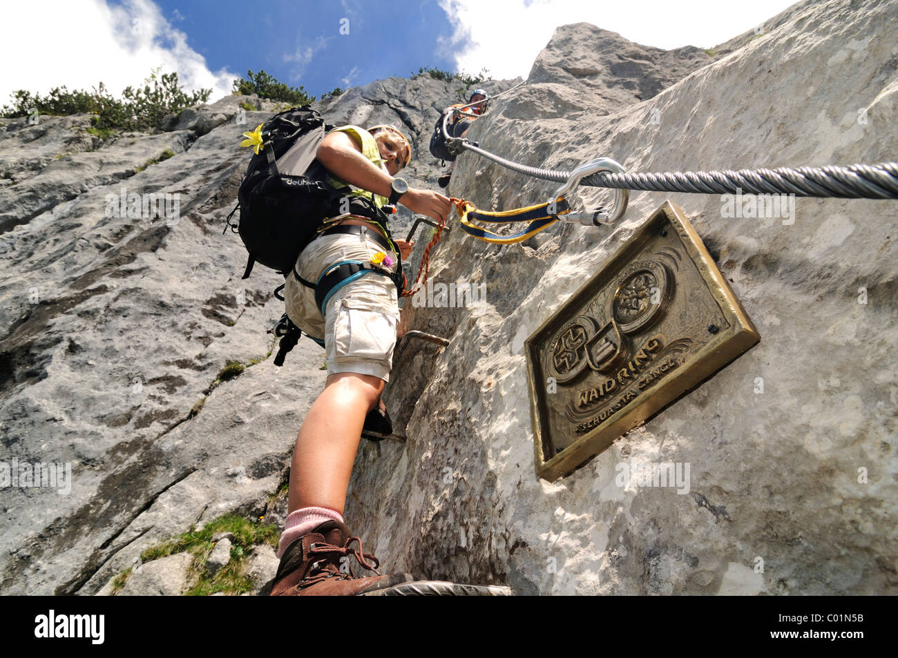 Klettersteig Chiemgau : Schuasta gangl gamssteig klettern route steinplatte berg outdoor