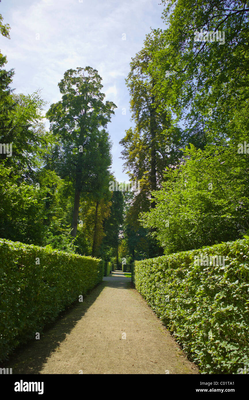 Schwetzinger Schloss, 18. Jahrhundert, Schlosspark.Schwetzingen, Baden-Wurttemberg, Deutschland, Europa. Stockbild