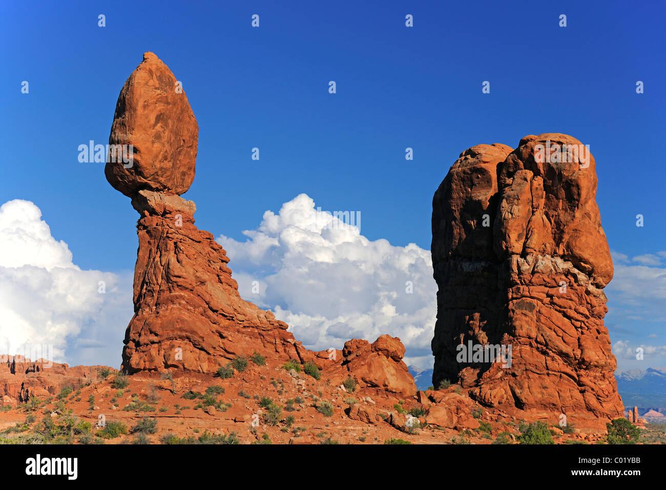 Balanced Rock-Rock-Formation in den Morgen, Arches-Nationalpark, Utah, USA, Amerika Stockfoto