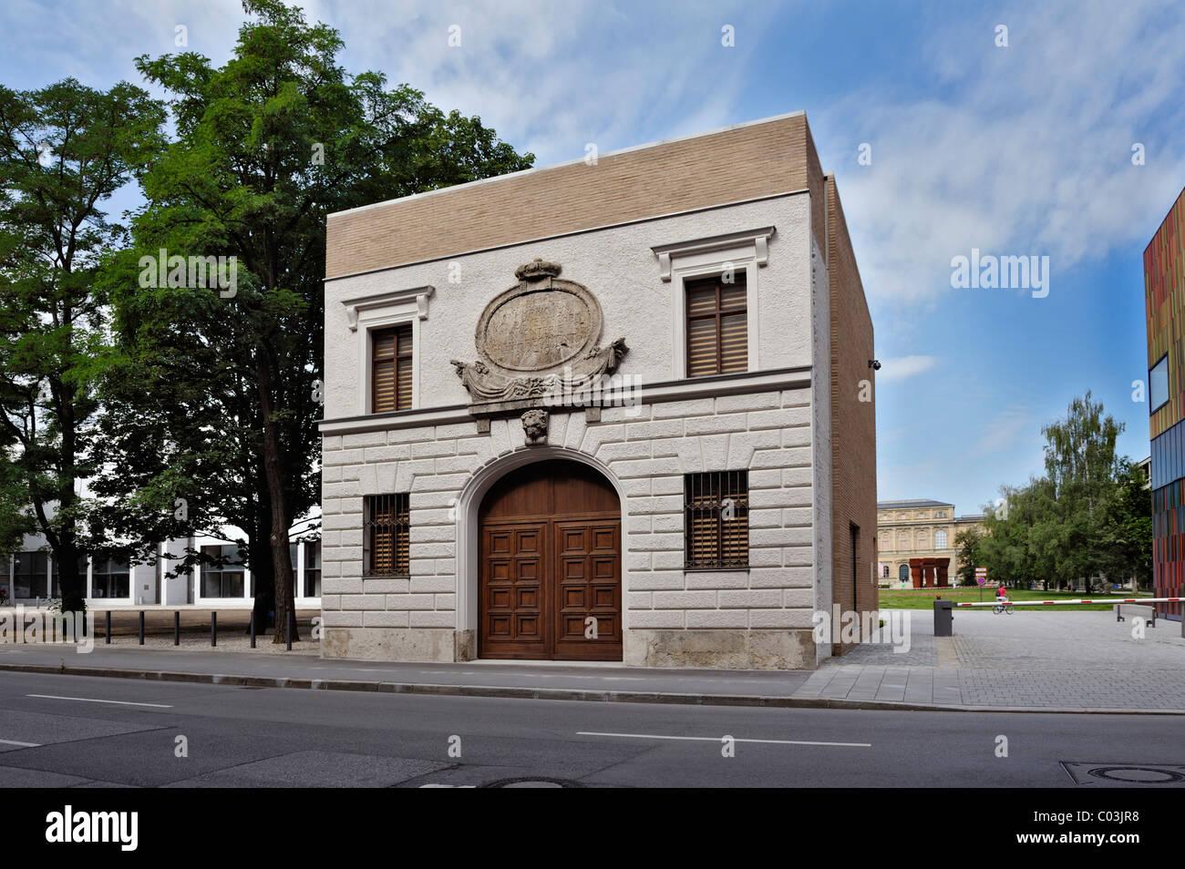 Das türkische Tor, Standort für Kunst, Tuerkenstrasse, München, Bayern, Deutschland, Europa Stockbild