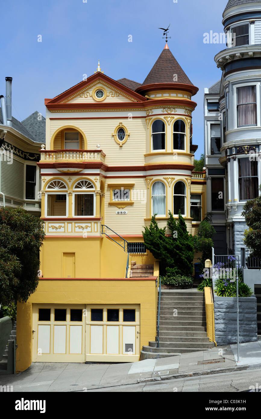 Haus Im Viktorianischen Stil In San Francisco Kalifornien Usa