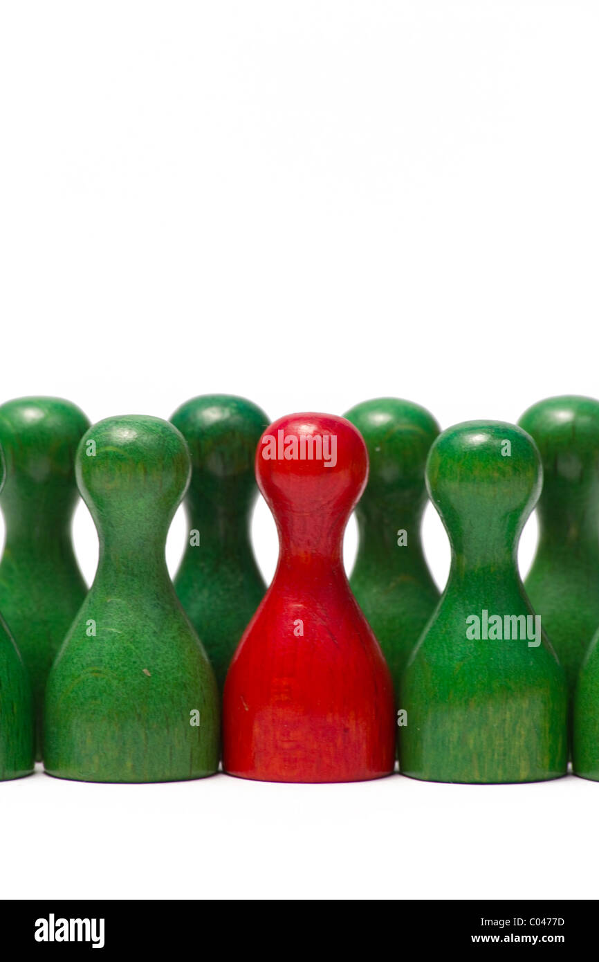 Das Bild weitergeleitet Spielfiguren Unterschiedlicher Farben. Das Bild zeigt die Indikatoren mit verschiedenen Stockbild