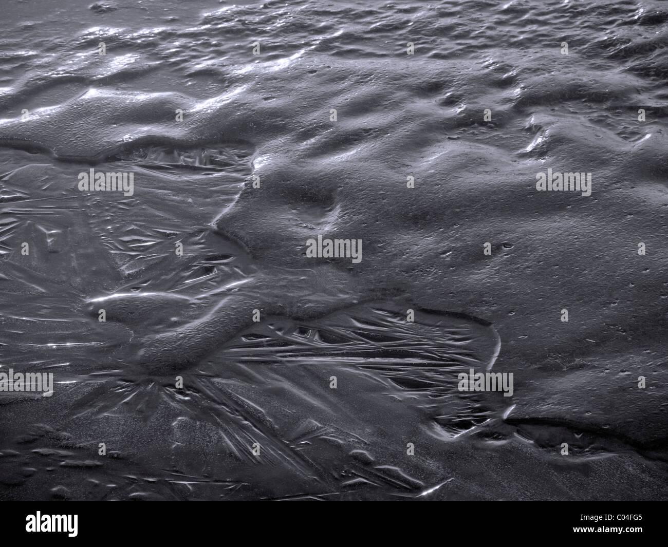 Eis wie ein Metall Stockbild