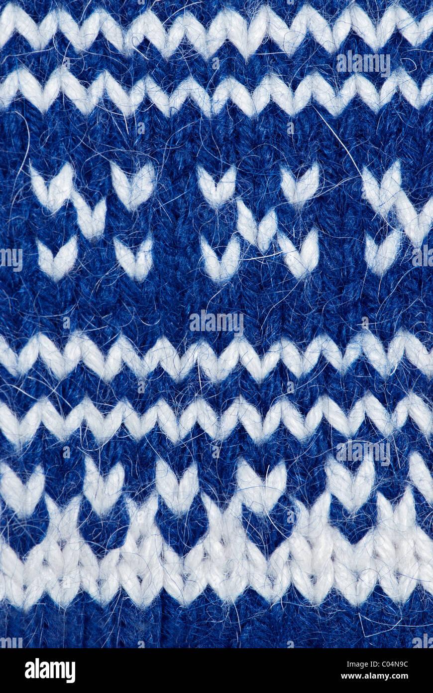 Hintergrund der handgefertigte Wolle Muster stricken Stockbild
