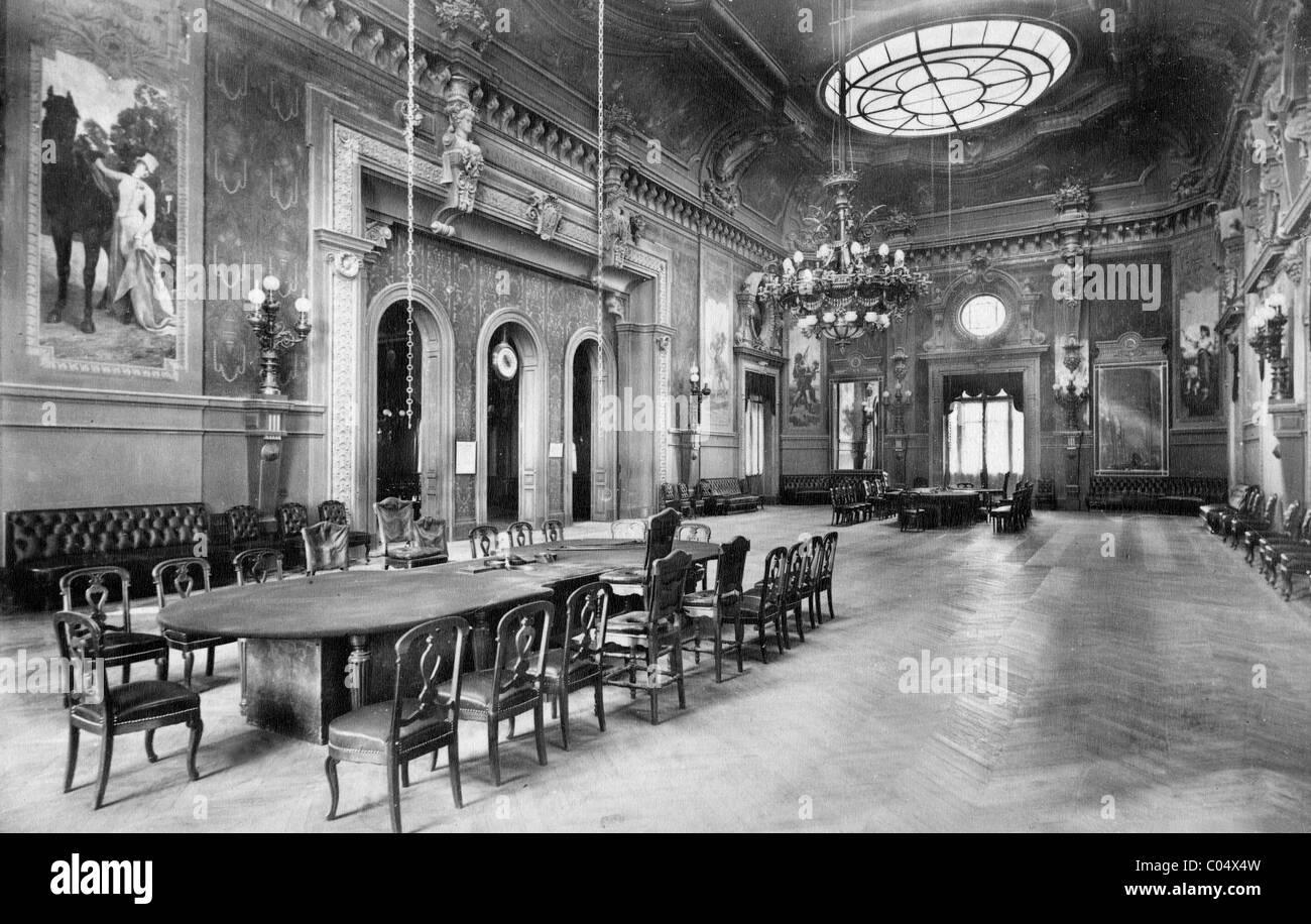 Interieur, Casino, Monte Carlo, Monaco c1890 Stockfoto, Bild ...