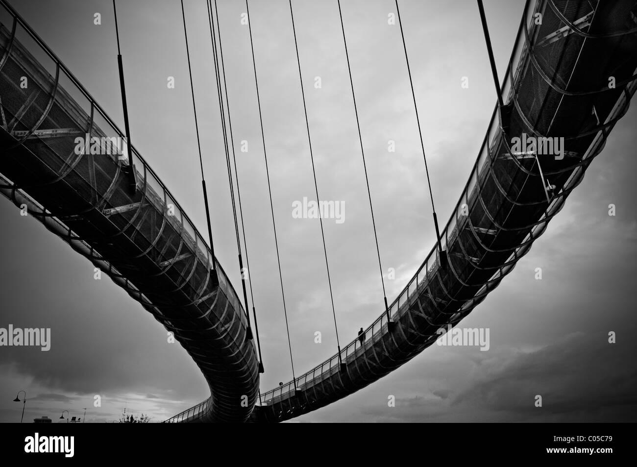 Kabelbrücke Stockbild