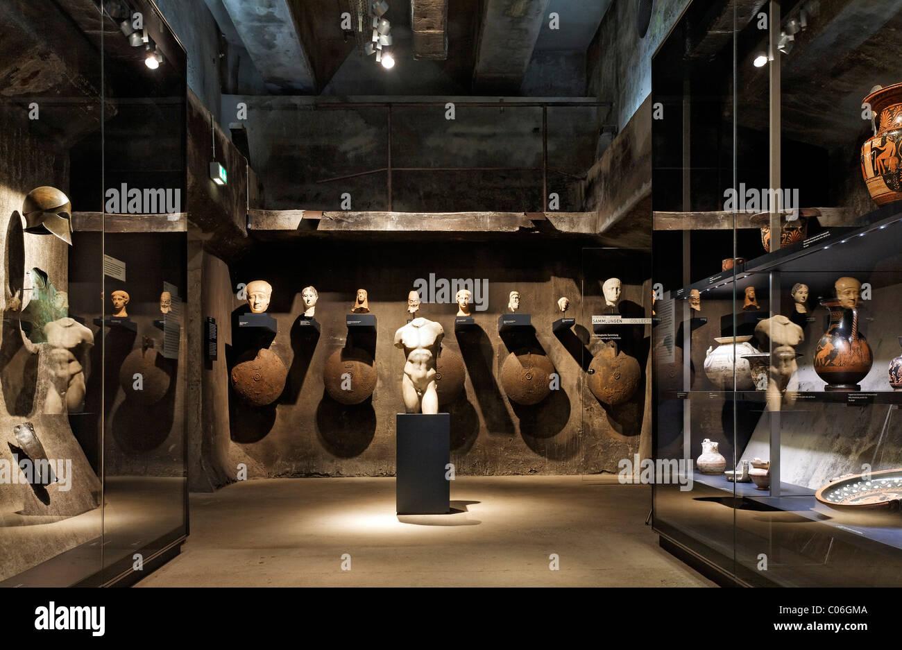 Archäologische Sammlung, neue Ruhr Museum, UNESCO World Heritage Site Zeche Zollverein, Essen, Ruhrgebiet-region Stockbild