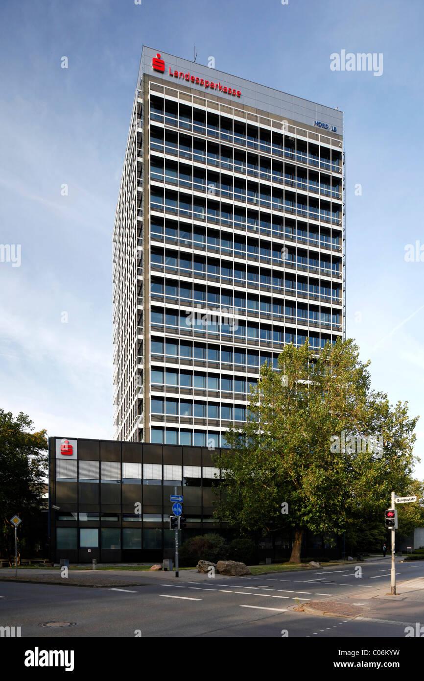 Hochhaus der Landessparkasse staatliche Sparkasse, regionale Landesbank Norddeutsche Landesbank, Braunschweig Stockbild