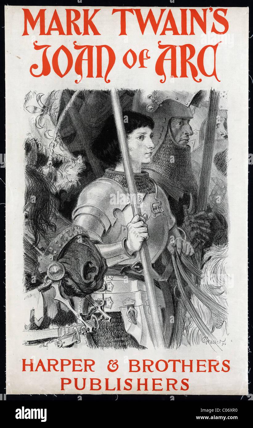 Plakat, Mark Twains Jeanne d ' Ark Stockbild