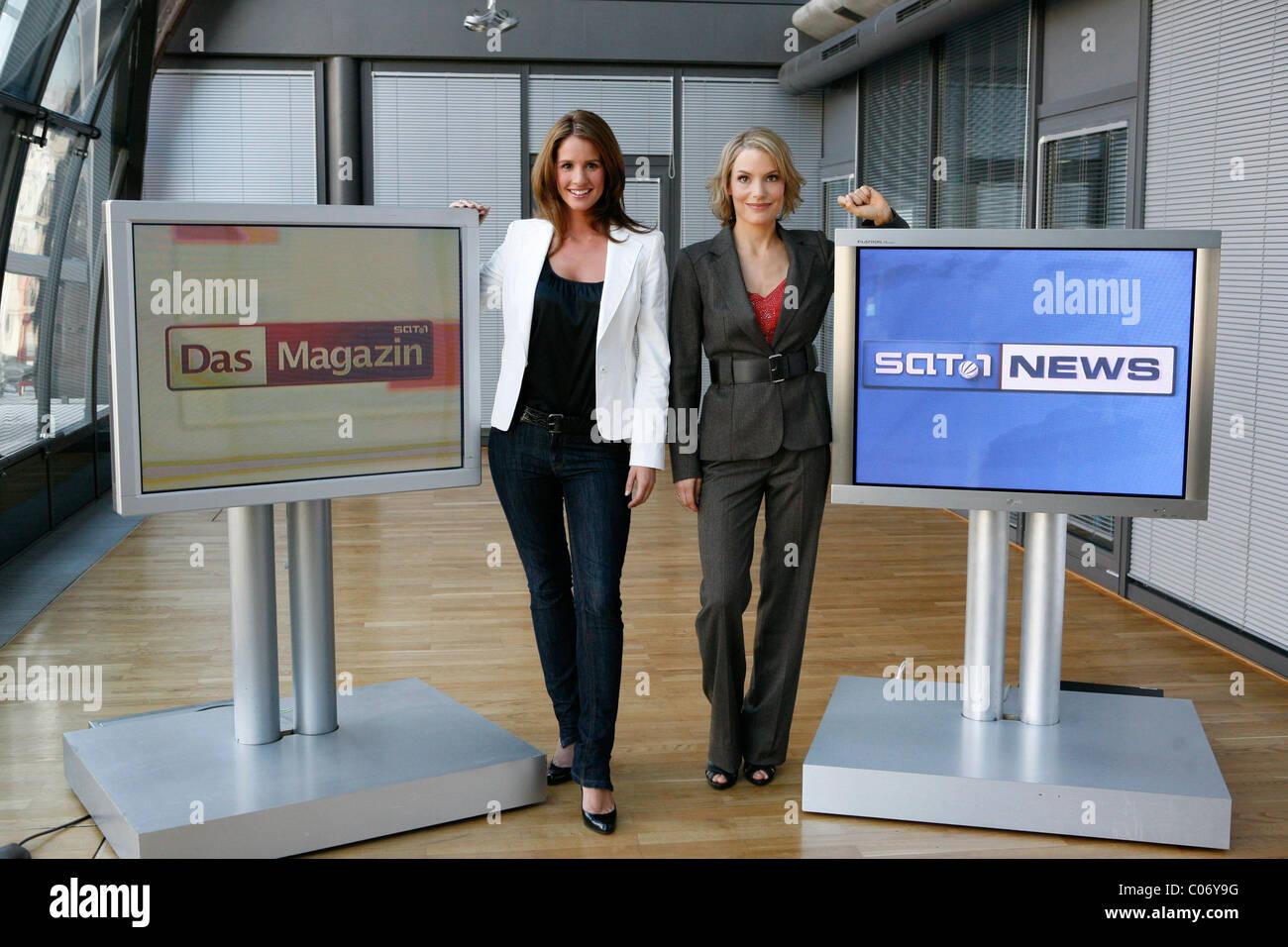 Mareile hoeppner katja losch photocall in sat 1 studios for Nachrichten magazin