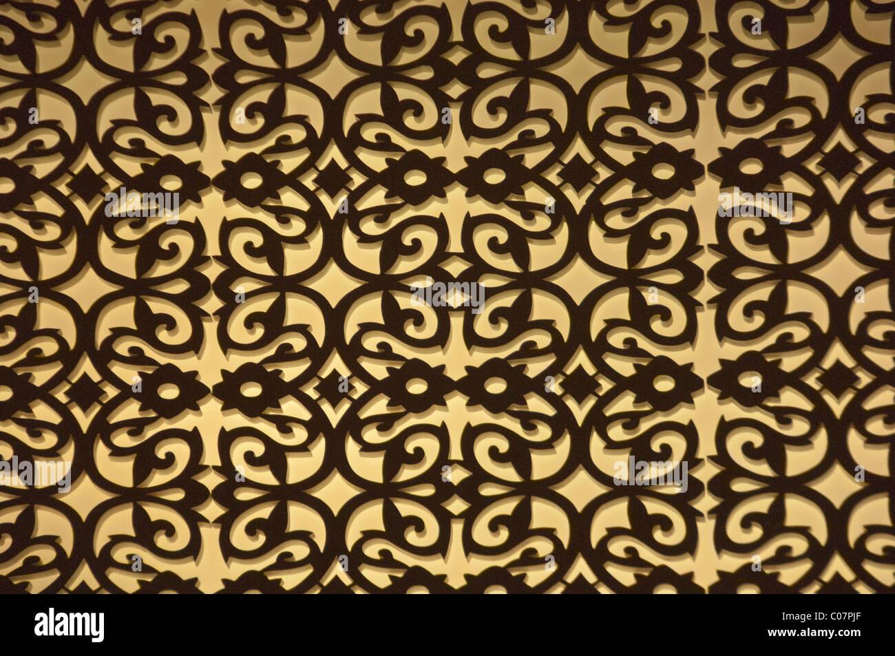 Detail eines Teppichs Stockbild