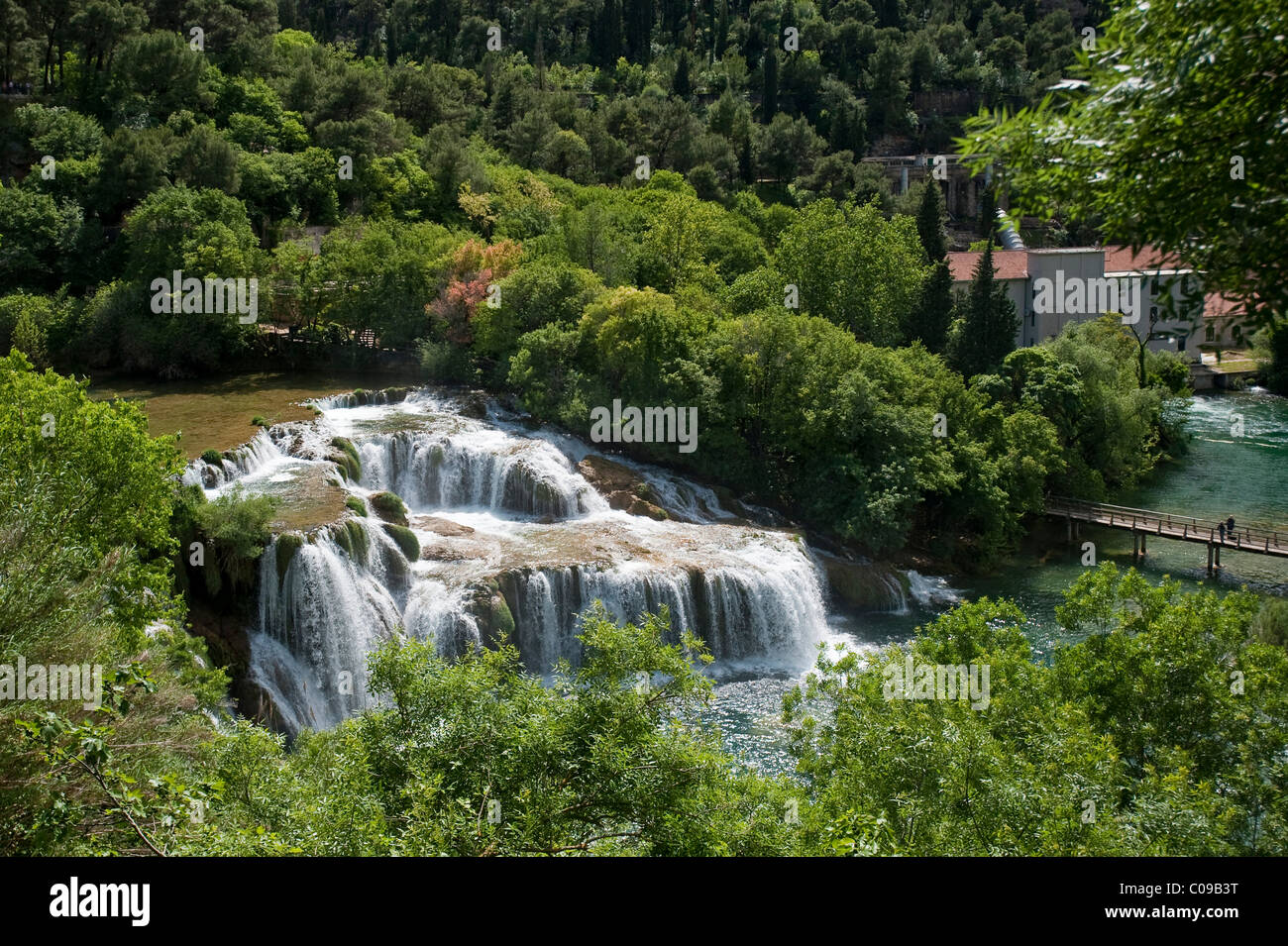 Wasserfälle, Nationalpark Krka, Region Sibenik-Knin, Kroatien, Europa Stockbild