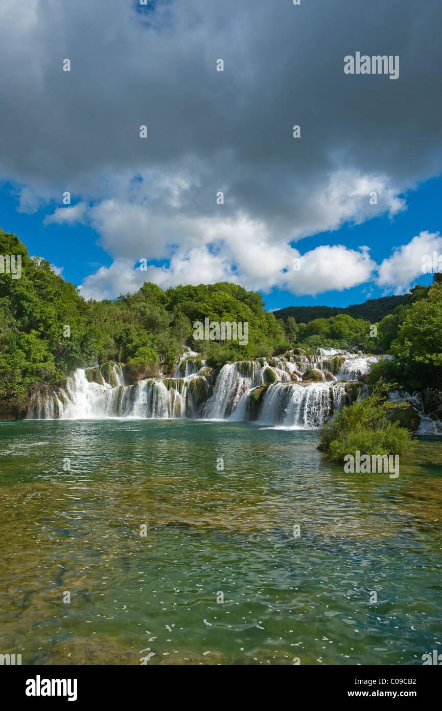 Wasserfälle, Nationalpark Krka, Aeibenik-Knin County, Kroatien, Europa Stockbild