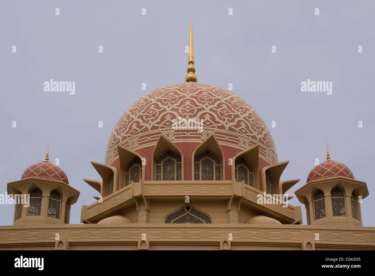 Putrajaya Putra Moschee in Malaysia Stockbild