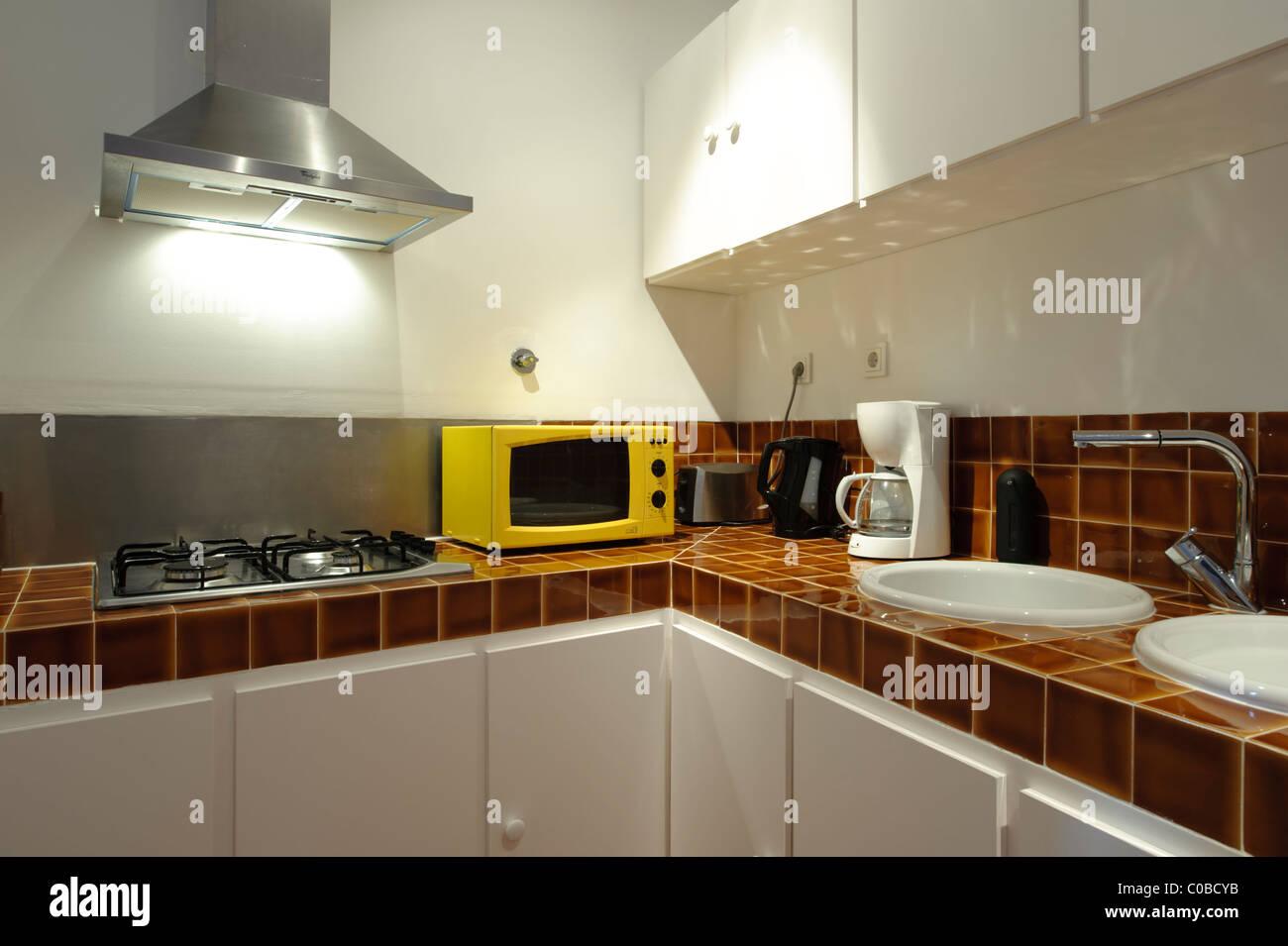 Kleine moderne Küche Stockfoto, Bild: 34672383 - Alamy