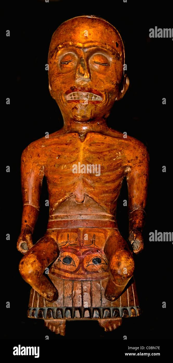 Maske Schamane Regalia Heilung Krankheit Seele Körper Nordwestküste von Amerika britisch. 19. Jh. Stockbild