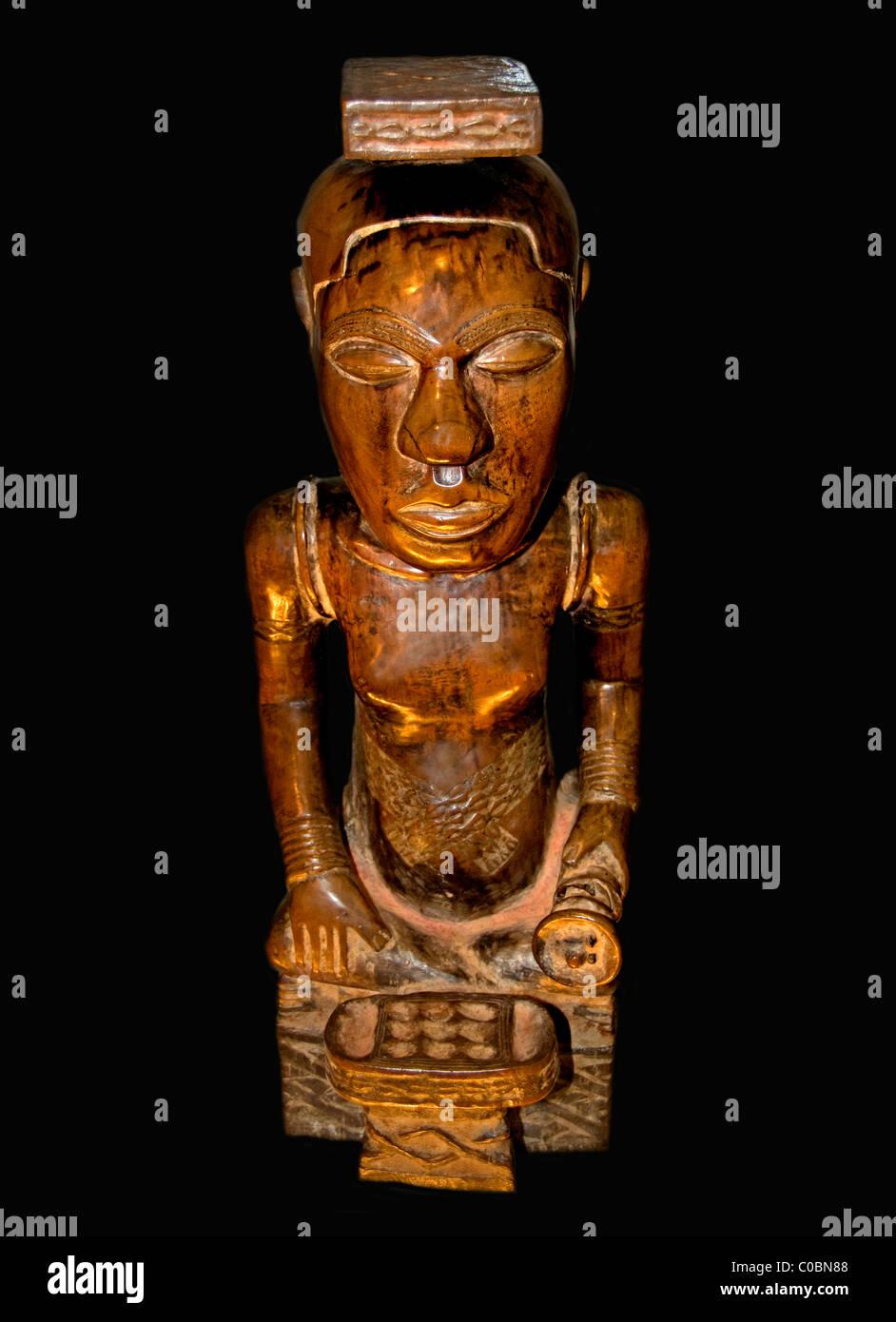 zum Gedenken an König Ndop Kuba Bushoong Republik Kongo aus dem 18. Jahrhundert Ikul Bushoon Stockbild