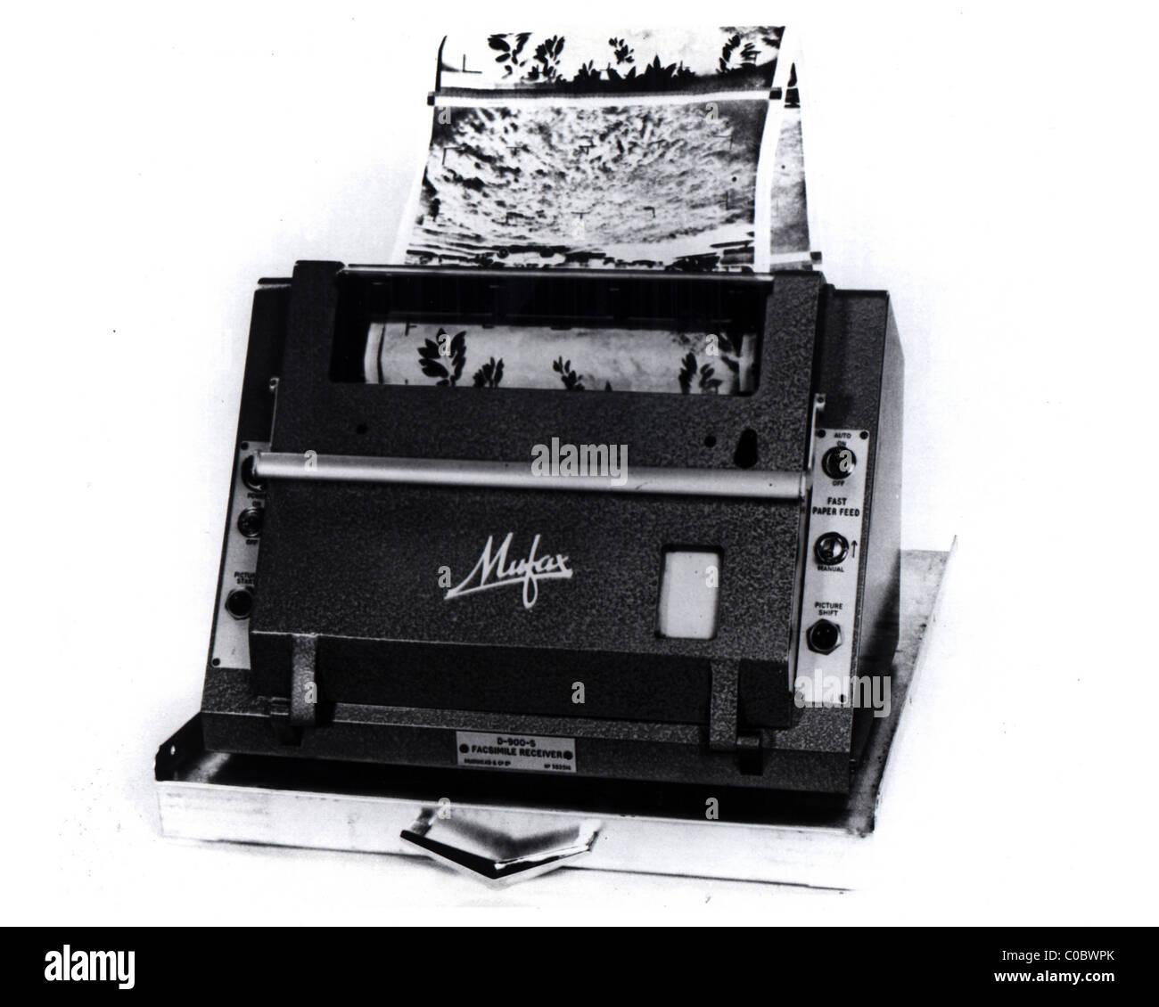 Bildübertragung Empfänger APT-Automaten Stockbild